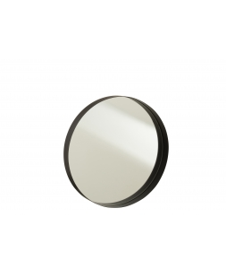 Зеркало J-LINE настенное круглое в черной металлической раме диаметр 40 см Бельгия