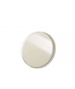 Зеркало J-LINE настенное круглое в белой металлической раме диаметр 30 см Бельгия