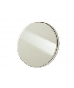 Зеркало J-LINE настенное круглое в белой металлической раме диаметр 51 см Бельгия