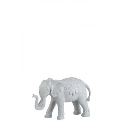 Статуэтка Слон J-LINE серого цвета 35х12х20 см