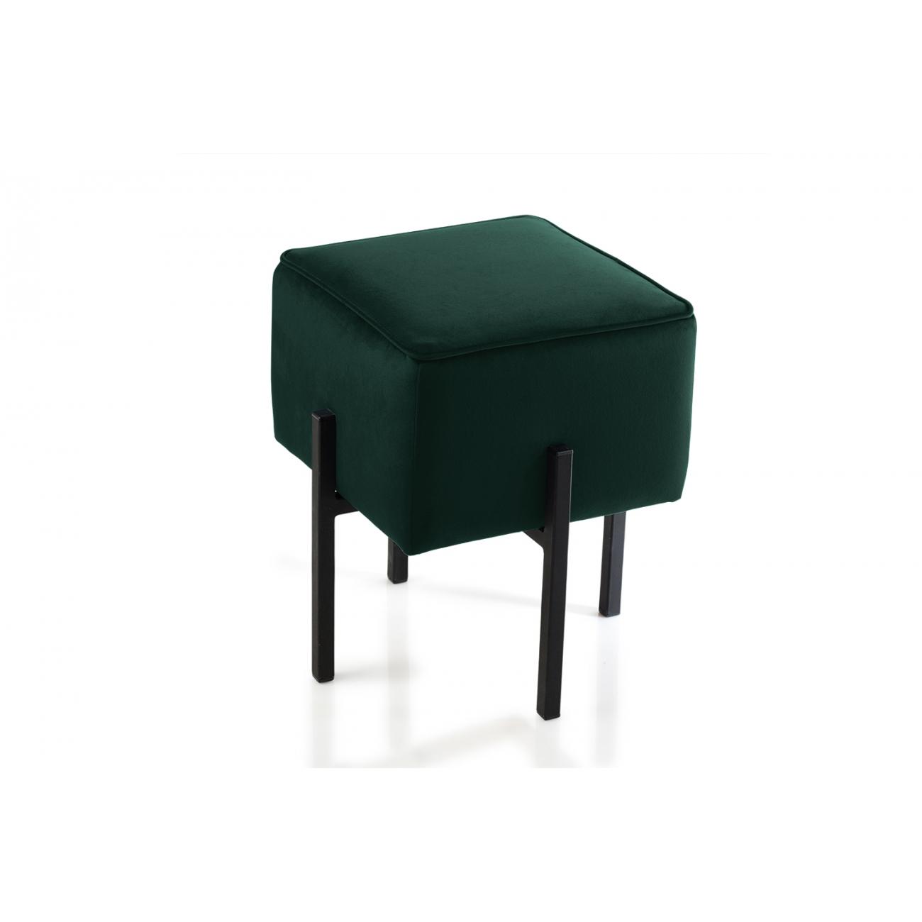 Пуф J-LINE зеленый на металлических ножках