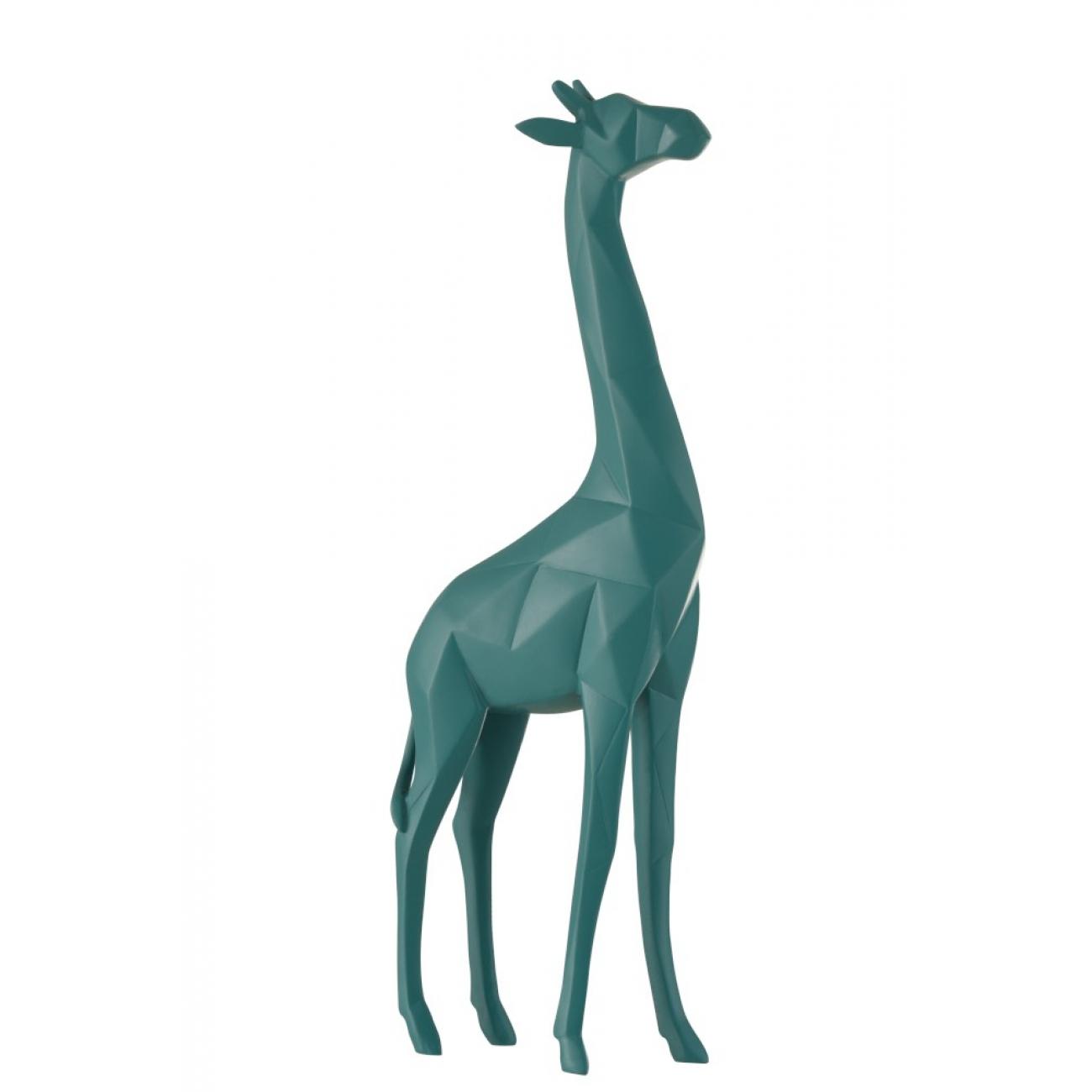Статуэтка жираф J-LINE бирюзового цвета высота 39 см