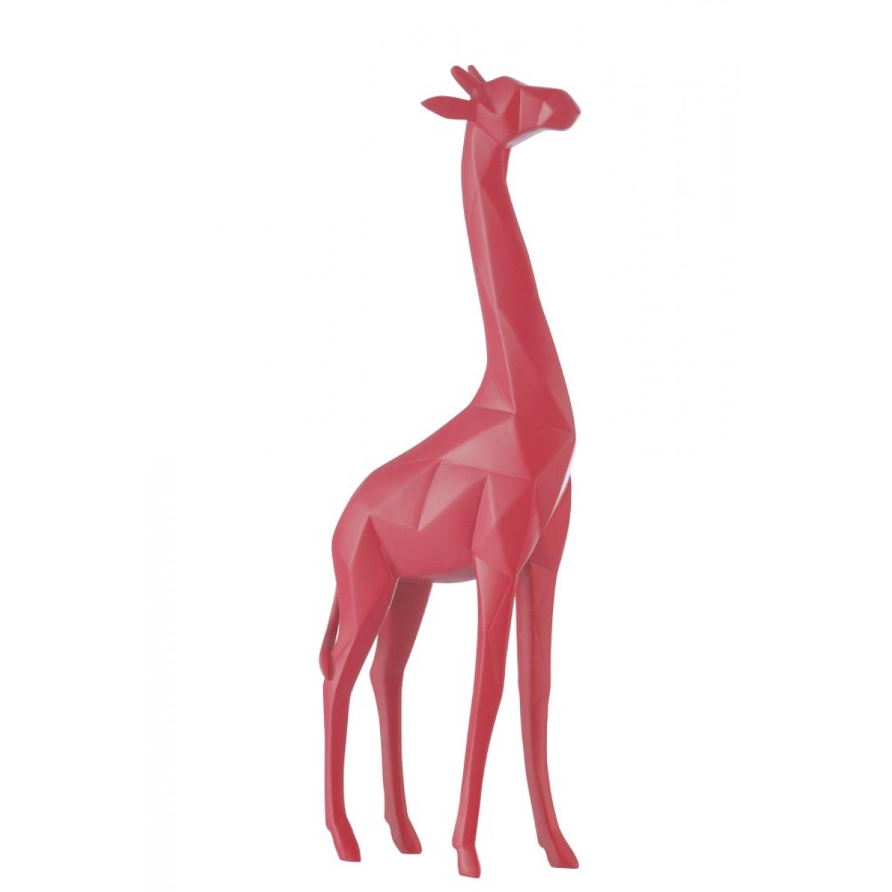 Статуэтка жираф J-LINE розового цвета высота 39 см