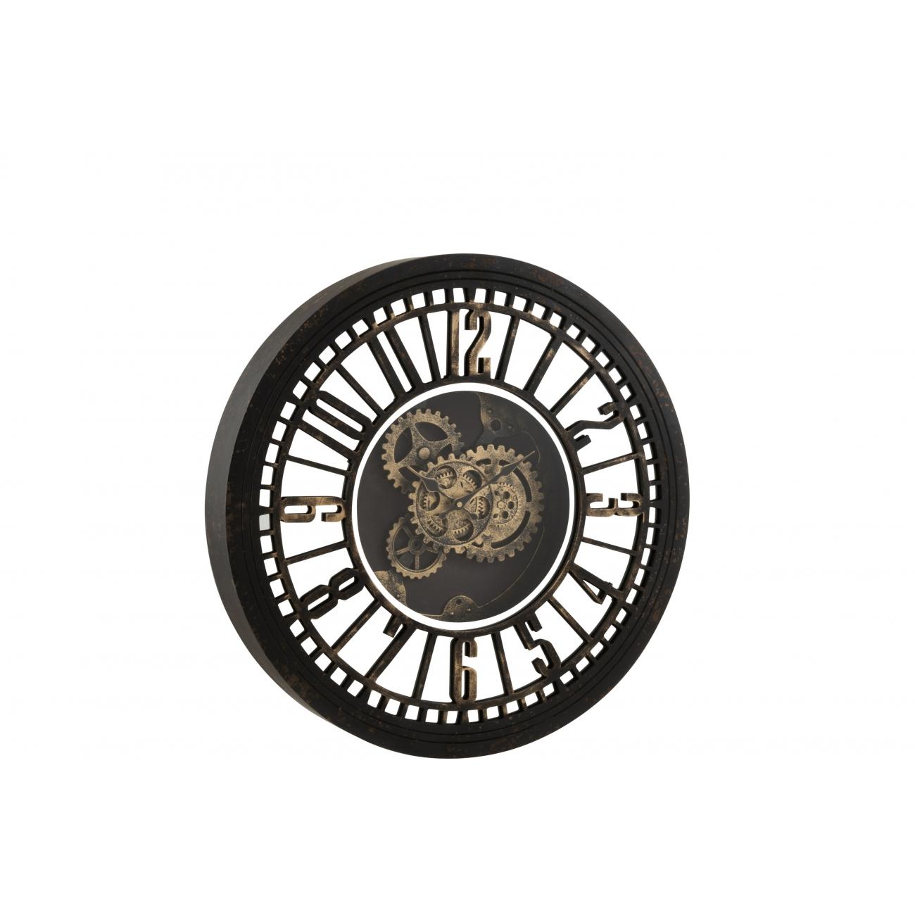 Настенные часы J-LINE круглые в металлическом корпусе зеркальные с видимым механизмом диаметр 61 см Бельгия