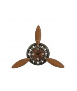 Настенные часы J-LINE в форме пропеллера металлические коричневые высота 132 см Бельгия