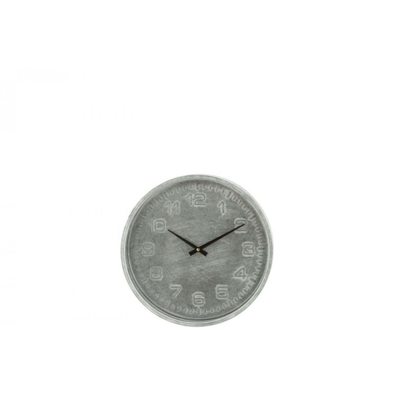 Настенные часы J-LINE круглые в металлическом корпусе диаметр 39 см