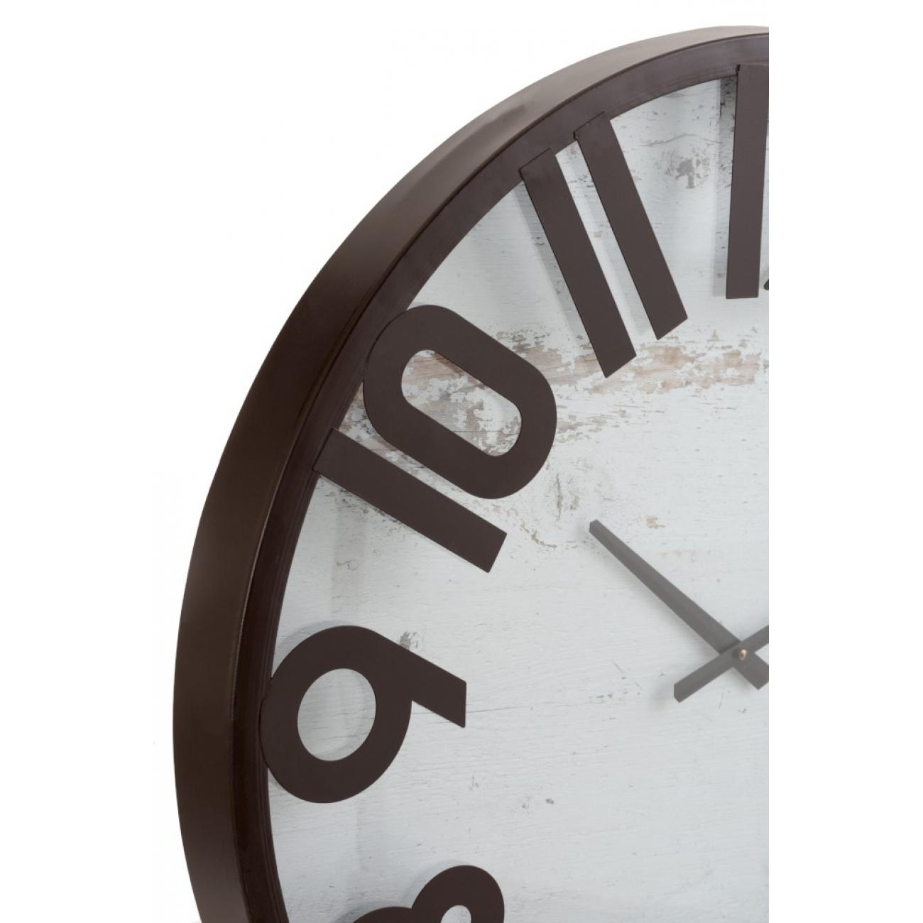 Настенные часы J-LINE круглые в деревянном корпусе диаметр 68 см