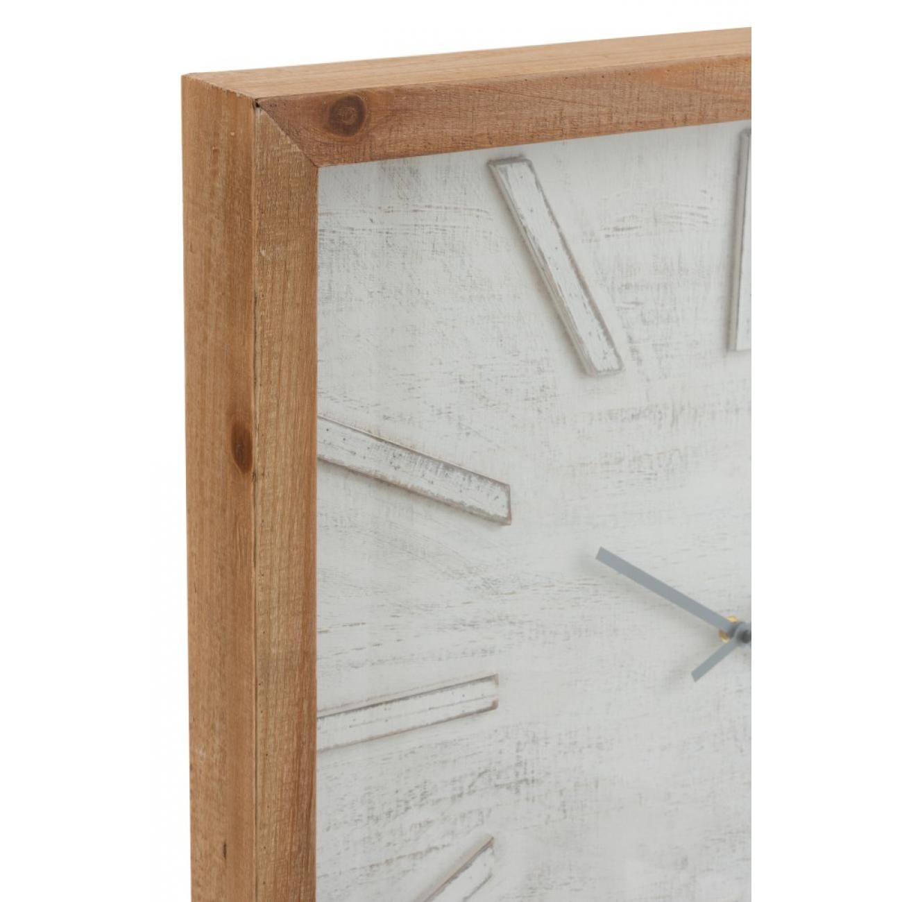Настенные часы J-LINE квадратные в деревянном корпусе  40х40 см