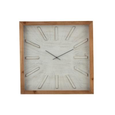 Настенные часы J-LINE квадратные в деревянном корпусе  60х60 см