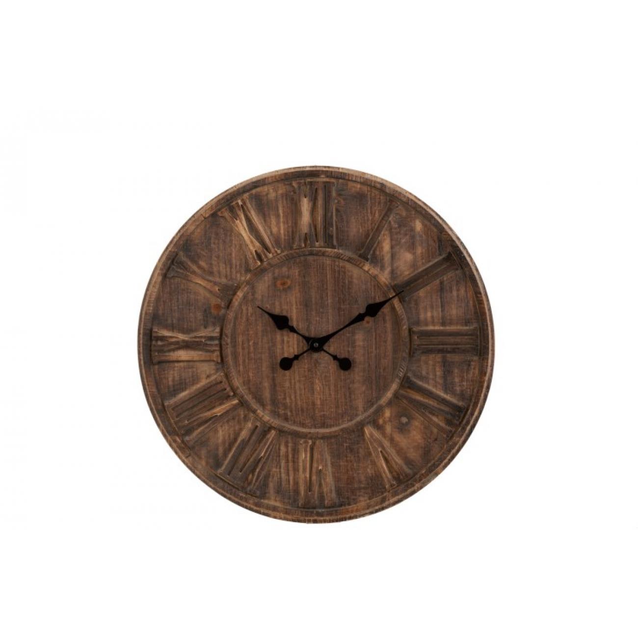 Настенные часы J-LINE круглые в деревянном корпусе диаметр 60 см