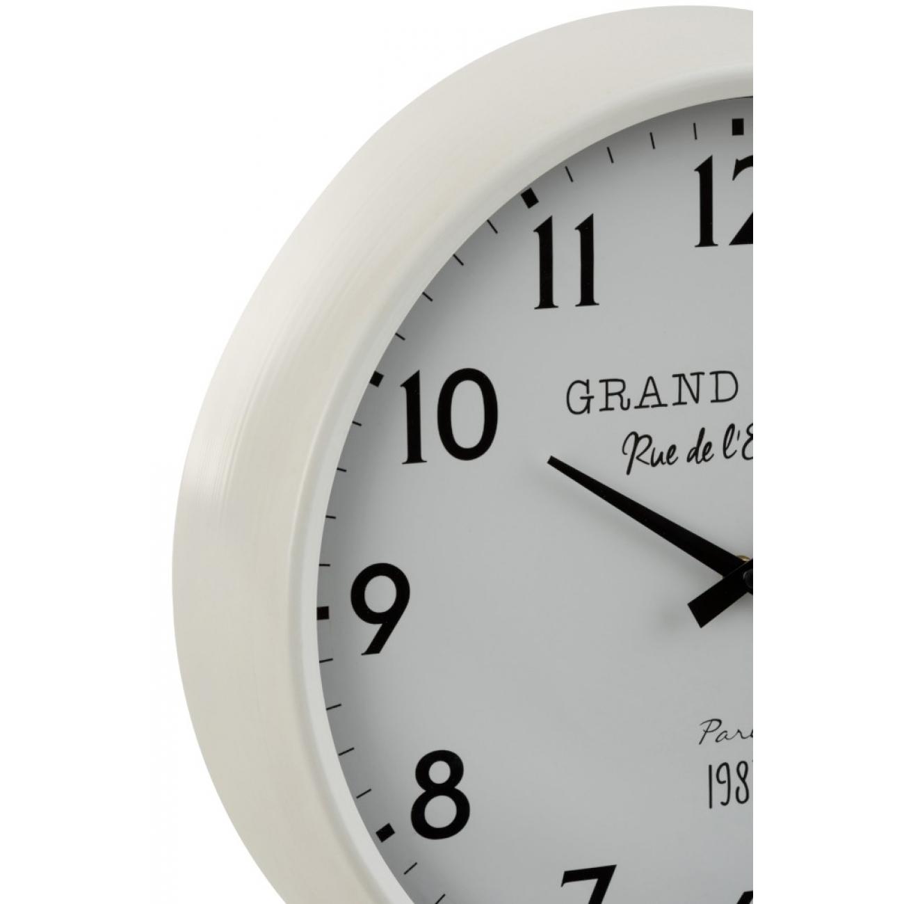 Настенные часы J-LINE круглые в металлическом корпусе диаметр 40 см