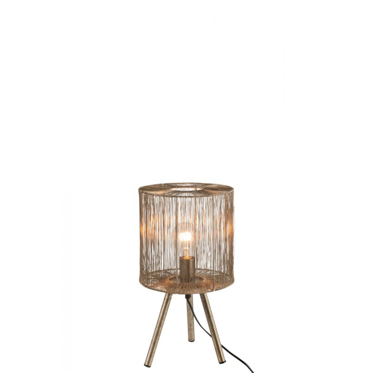 Лампа настольная металлическая  J-LINE  на ножках бронзового цвета Бельгия