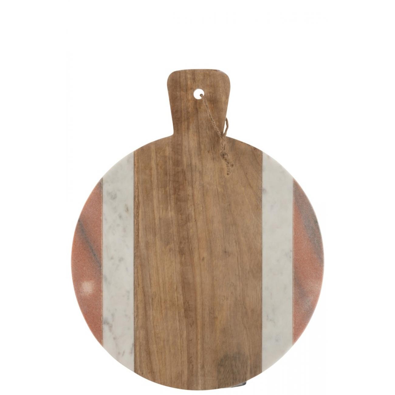 Доска для сервировки  J-LINE из дерева и вставками из камня 40х30 см Бельгия