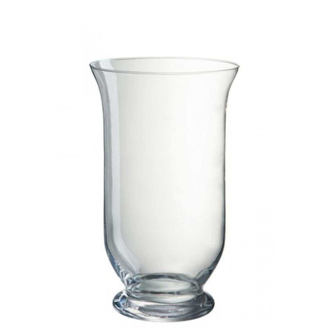 Ваза J-LINE стеклянная классической формы высота 25 см