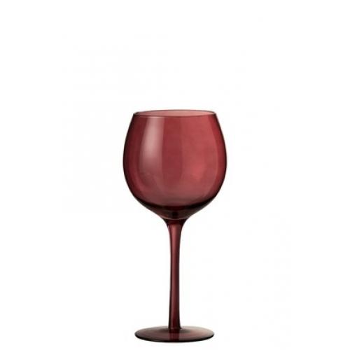 Бокал для вина стеклянный  J-LINE красного цвета обьем 250 мл Бельгия