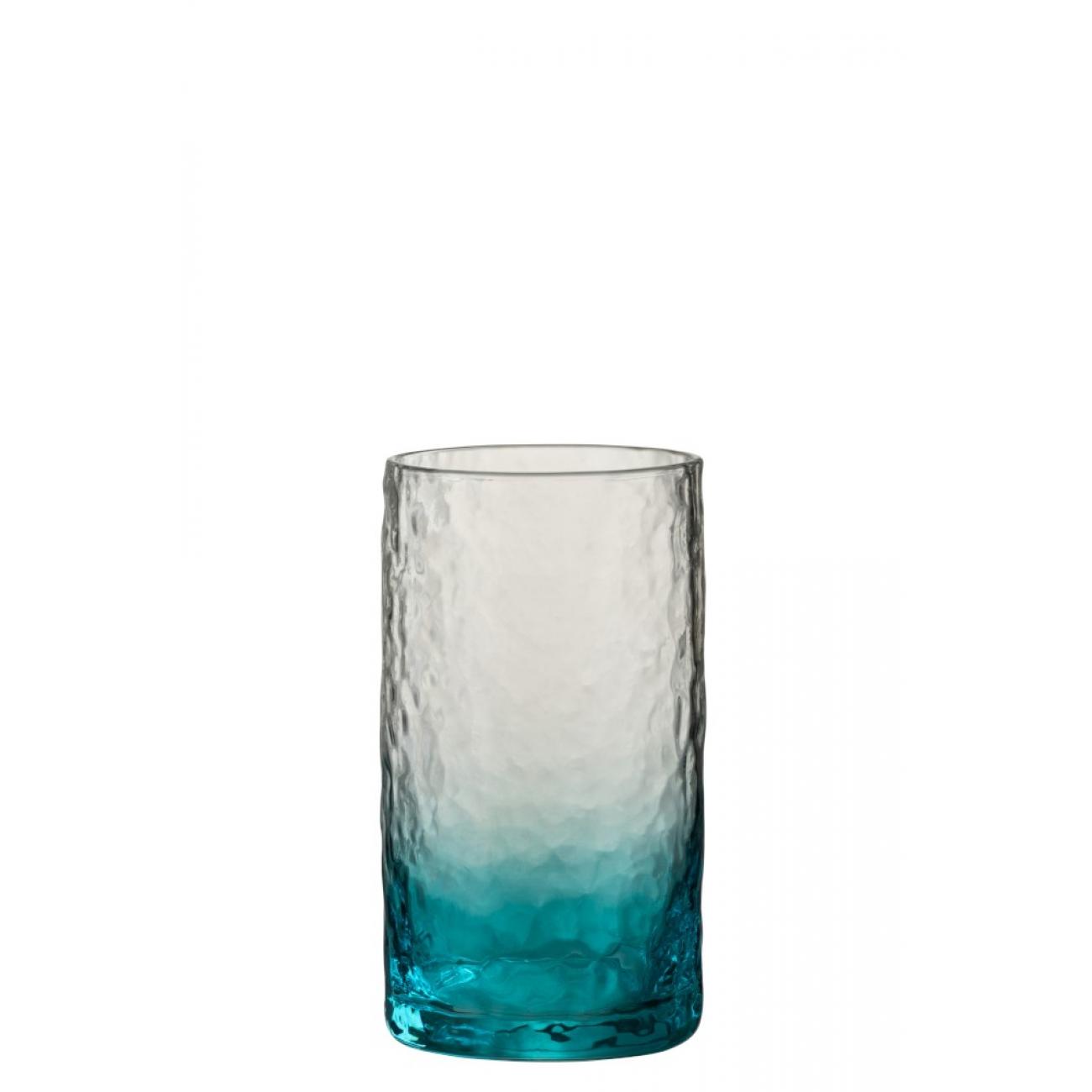 Стакан J-LINE стеклянный синий объем 350 мл