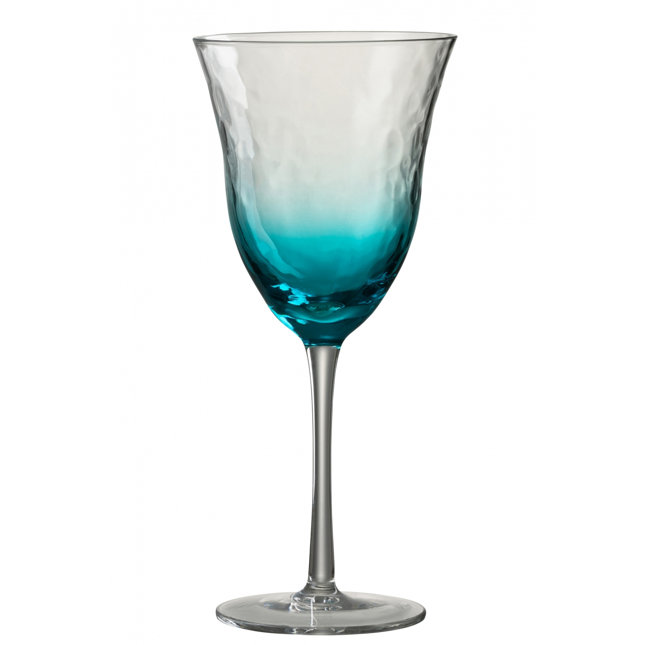 Бокал для вина стеклянный  J-LINE обьем 360 мл синего цвета  Бельгия