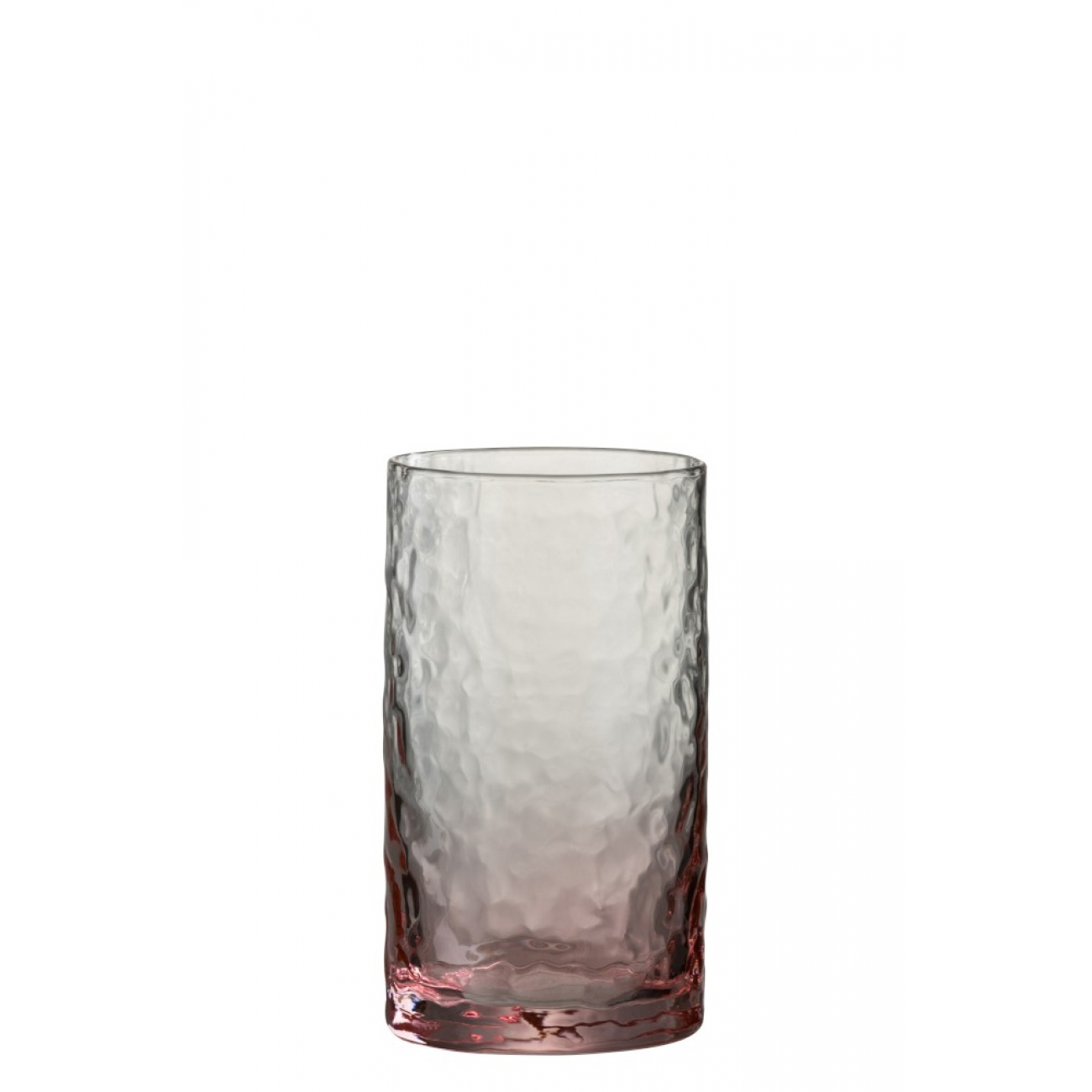 Стакан J-LINE стеклянный розовый  объем 350 мл