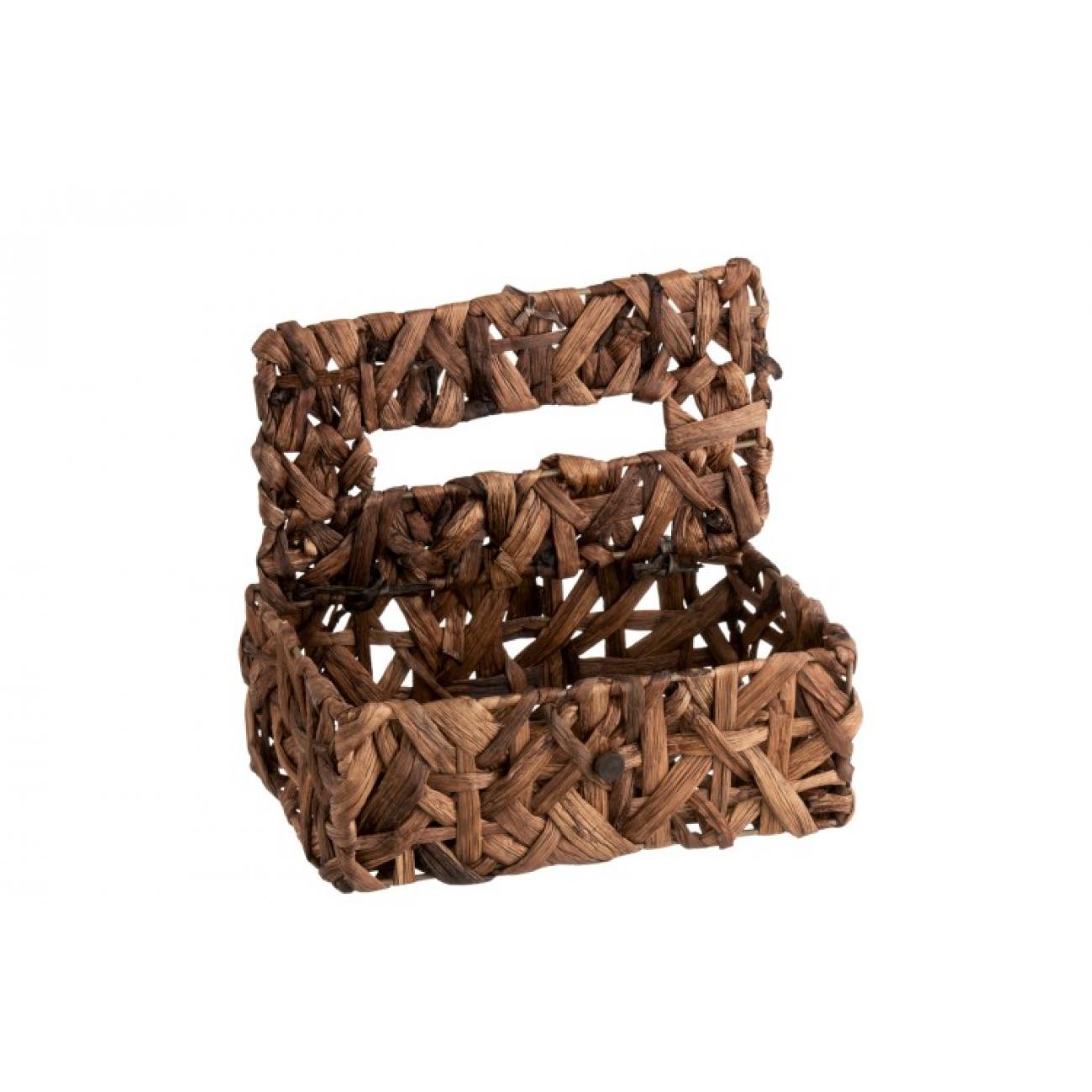 Салфетница  J-LINE темно-коричневая из натуральных материалов