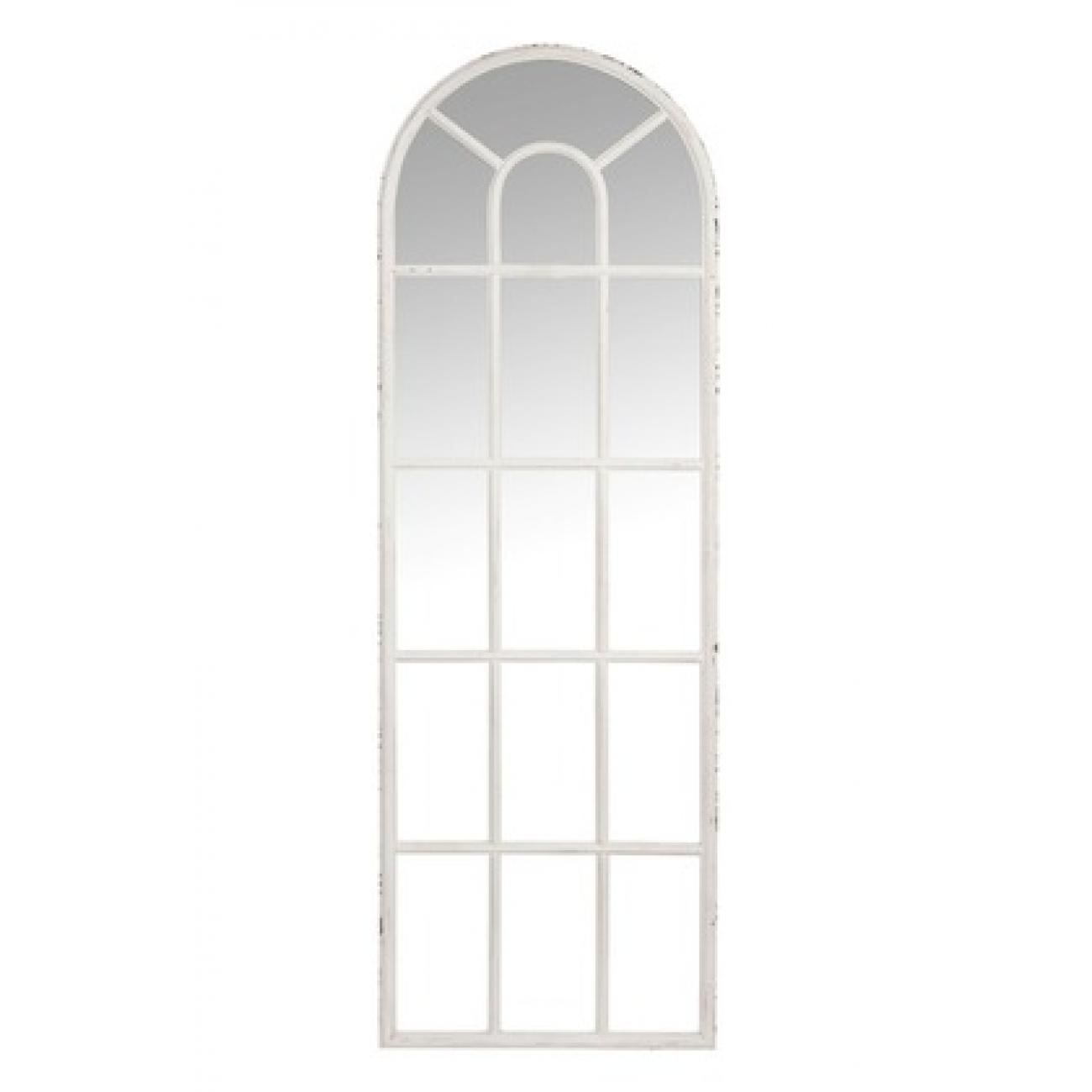 Зеркало J-LINE фигурное настенное в виде большой оконной рамы в античном стиле 53х165 см Бельгия