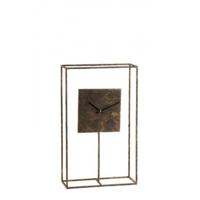 Настольные часы  J-LINE в металлическом корпусе медного оттенка