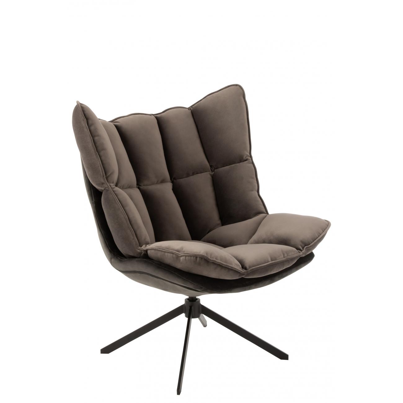 Кресло J-LINE серого цвета на ножках Бельгия