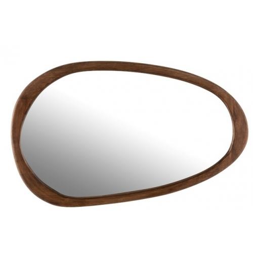 Зеркало J-LINE настенное фигурное в раме из натурального дерева манго 83х51 см Бельгия