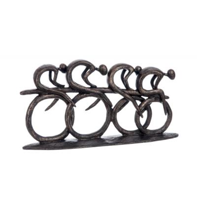 Статуэтка J-LINE велогонка велосипедисты длина 37 см
