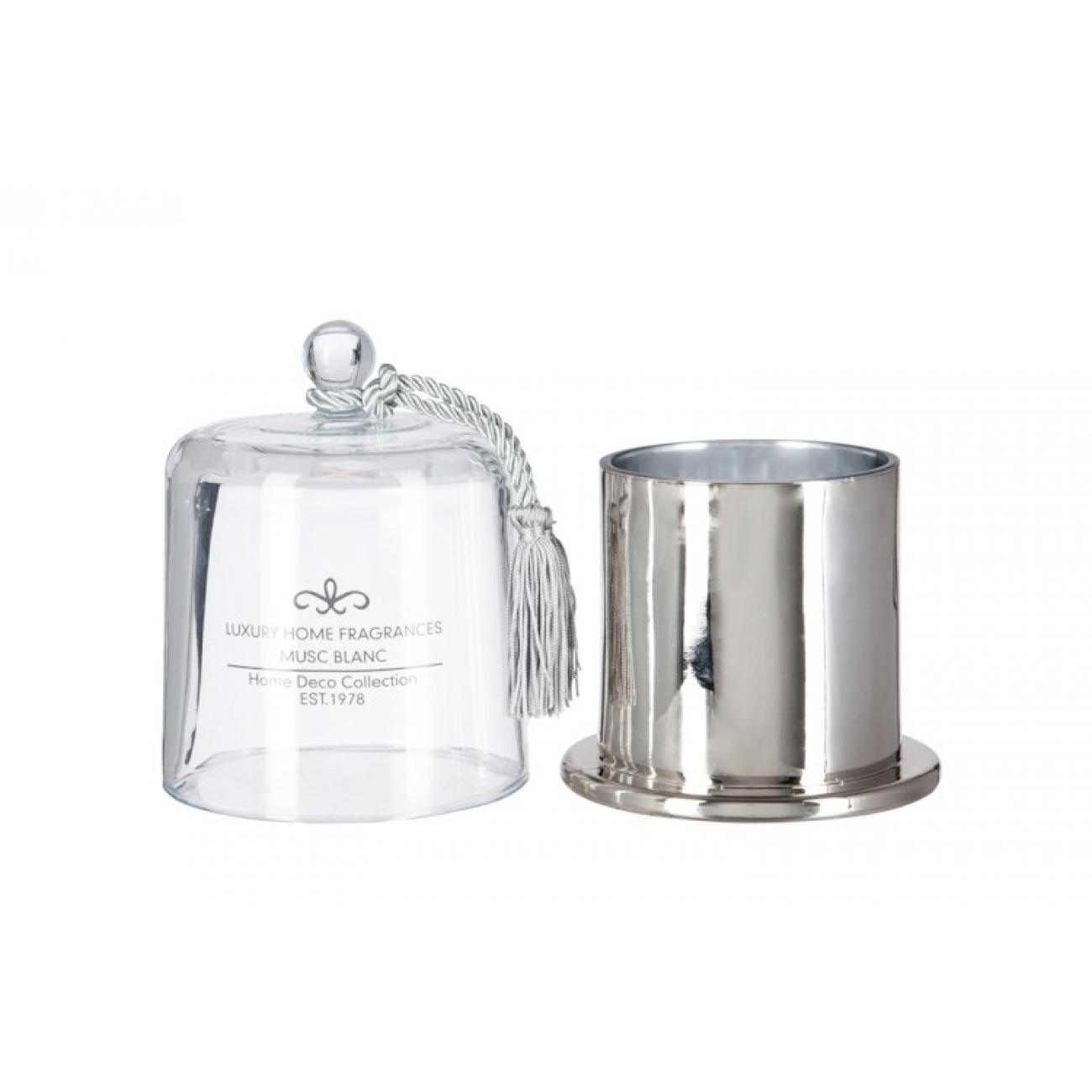 Свеча J-LINE ароматическая в шкатулке c куполом и кистью аромат musk blank