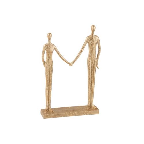 Статуэтка пара рука в руке J-LINE золотистая высота 39 см Бельгия