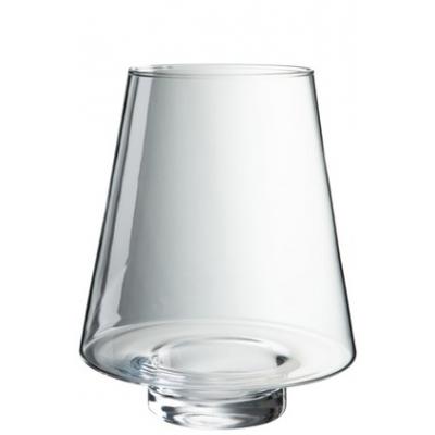 Ваза J-LINE стеклянная конической формы высота 23 см