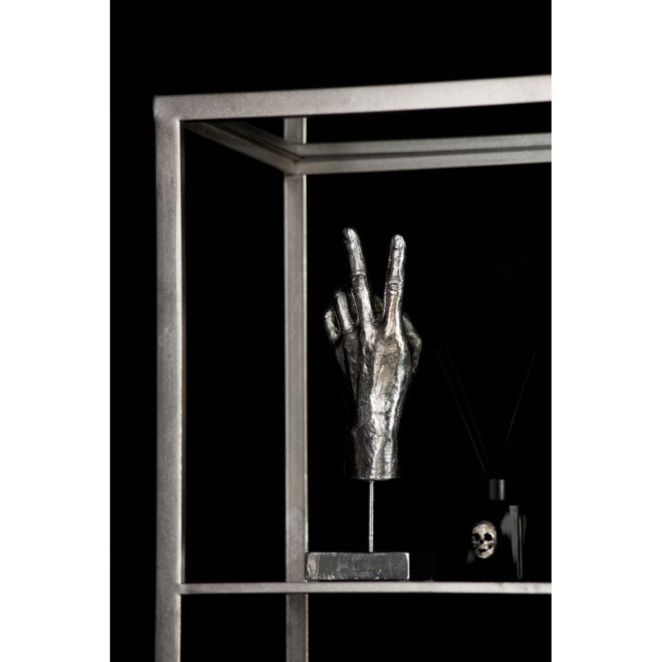 Статуэтка  J-LINE рука жест Победа, Мир, peace серебристого цвета высота 36 см