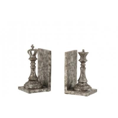 Держатели декоративные для книг J-LINE шахматные фигуры высота 22 см