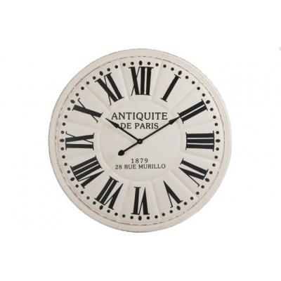 Настенные часы J-LINE белые круглые в металлическом корпусе диаметр 113 см