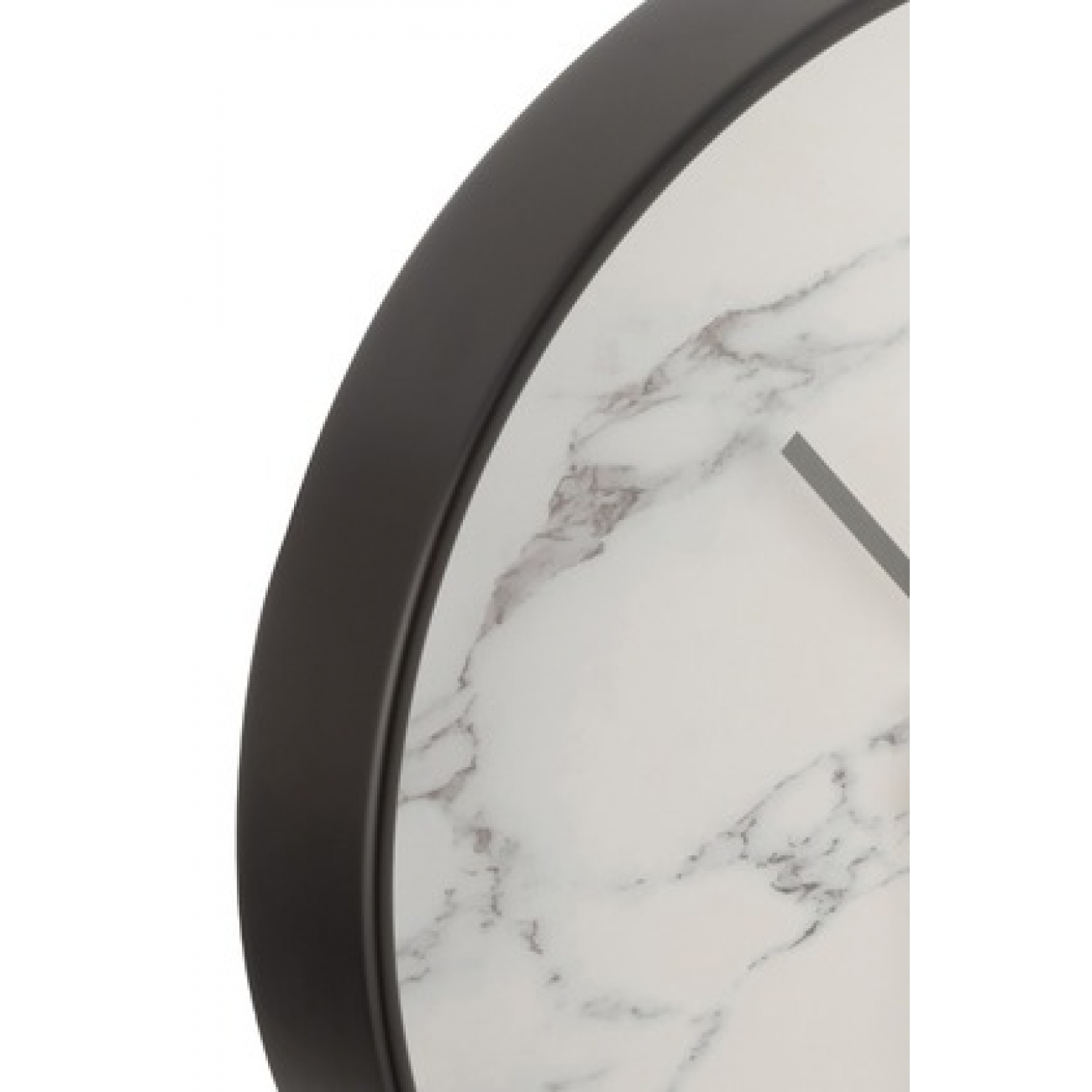 Настенные часы J-LINE круглые в пластиковом корпусе с эффектом мрамора диаметр 40 см