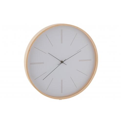 Настенные часы J-LINE круглые в деревянном корпусе белые диаметр 40 см Бельгия