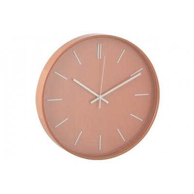 Настенные часы J-LINE круглые в пластиковом корпусе оранжевые диаметр 41 см