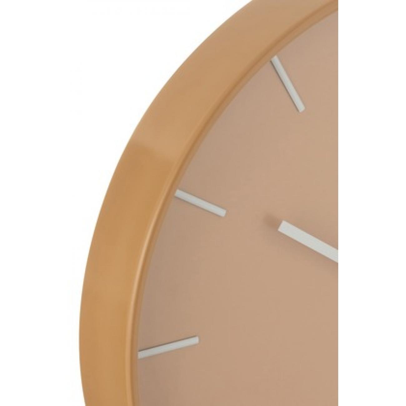 Настенные часы J-LINE круглые в пластиковом корпусе коричневые диаметр 41 см