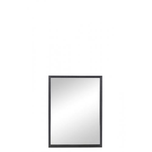 Зеркало J-LINE настенное прямоугольное в раме из натурального дерева черное 60х80 см Бельгия