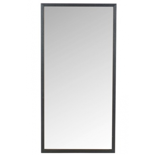Зеркало J-LINE настенное прямоугольное в раме из натурального дерева черное 60х120 см Бельгия
