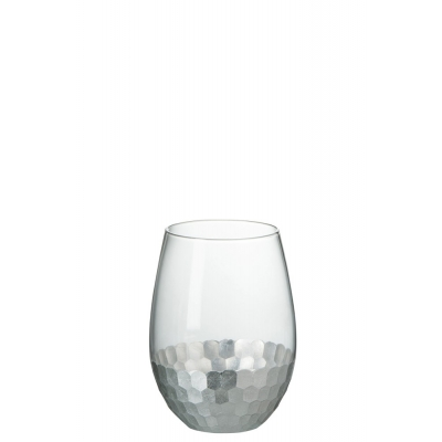 Стакан J-LINE стеклянный с серебряным основанием 320 мл