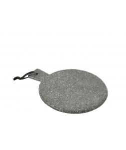 Доска для сервировки J-LINE из камня серая 30х32 см Бельгия