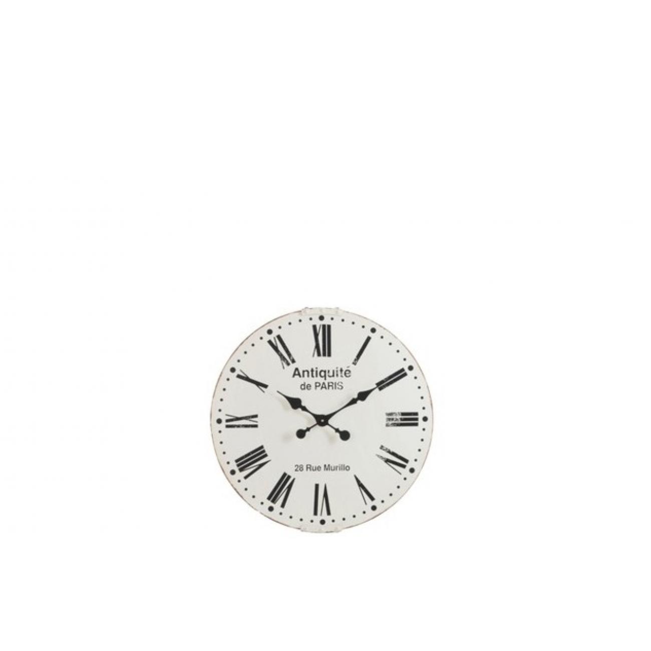 Настенные часы J-LINE белые круглые в металлическом корпусе диаметр 61 см