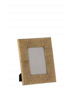 Фоторамка J-LINE металлическая состаренный металл золотистая 13x18 см Бельгия