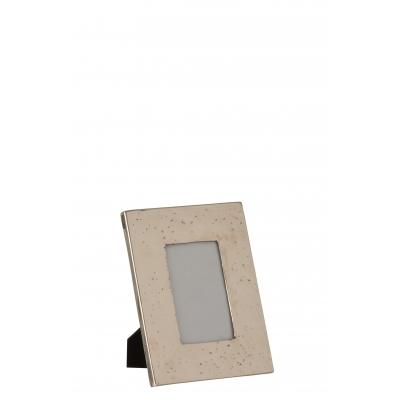 Фоторамка J-LINE металлическая состаренный металл серебристая 10x15 см Бельгия