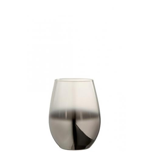 Стакан J-LINE стеклянный серебряного цвета зеркальный 320 мл
