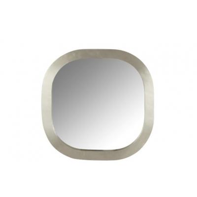 Зеркало J-LINE настенное квадратное в раме из натурального дерева серебристого цвета 61х61 см Бельгия