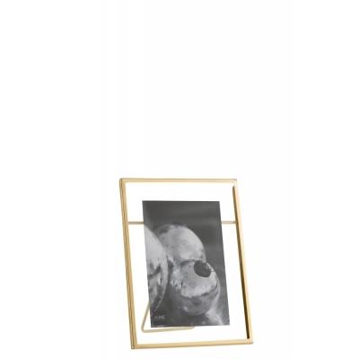Фоторамка J-LINE металлическая золотого цвета 10х15 см Бельгия