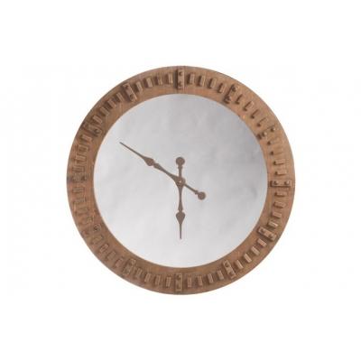 Настенные часы J-LINE в деревянном корпусе с зеркальной основой диаметр 119 см