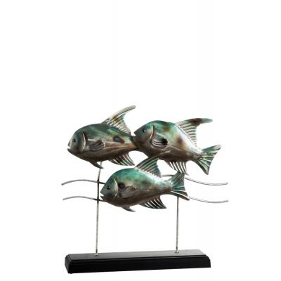 Статуэтка рыбы J-LINE металлическая настольная длина 43 см